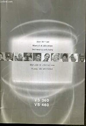 MANUEL D'UTILISATION - VIDEO SENDER VS 360/460 - Texte en anglais / français ...
