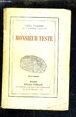 MONSIEUR TESTE.: VALERY PAUL