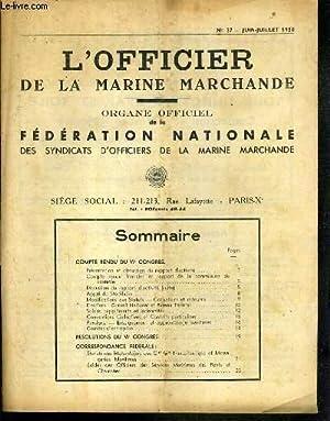 L'OFFICIER DE LA MARINE MARCHANDEN°37 - JUIN-JUILLET: MINIOU J.