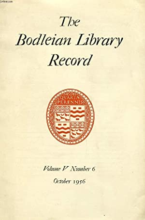 THE BODLEIAN LIBRARY RECORD, VOL. 5, N°: COLLECTIF