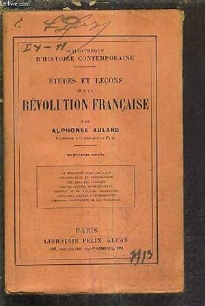 ETUDES ET LECONS SUR LA REVOLUTION FRANCAISE - 7E SERIE - LA FEODALITE SOUS LOUIS XVI DEPARTEMENTS ...