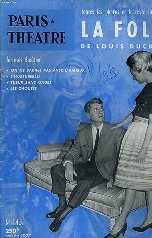 PARIS THEATRE N° 145 - TOUTES LES: COLLECTIF