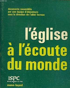 L'EGLISE A L'ECOUTE DU MONDE: COLLECTIF