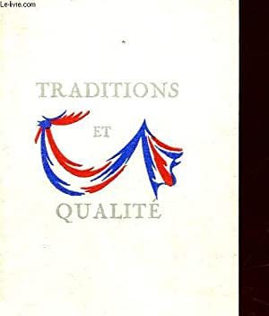TRADITIONS ET QUALITE: COLLECTIF