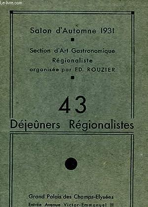 SALON D'AUTOMNE 1931: ROUZIER ED.