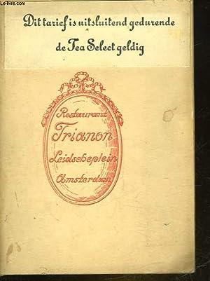 RESTAURANT TRIANON - LEIDSCHEPLEIN AMSTERDAM - TARIFS: COLLECTIF