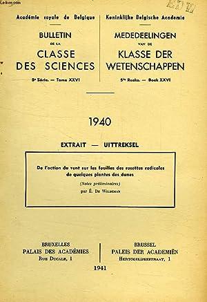 ACADEMIE ROYALE DE BELGIQUE, BULLETIN DE LA CLASSE DES SCIENCES 5e SERIE, TOME XXVI, EXTRAIT, DE L&...