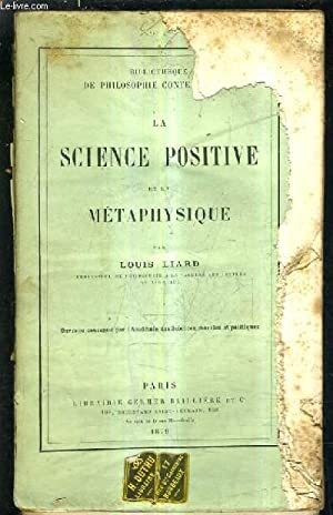 LA SCIENCE POSITIVE.: LIARD LOUIS