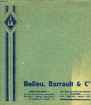 PIECES DETACHEES DE NOTRE FABRICATION ADAPTABLES AUX VOITURES PEUGEOT, BELLEU, BARRAULT & Cie: ...