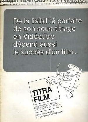 LE FILM FRANCAIS - N° 1342 - DE LA LISIBILITE PARFAITE DE SON SOUS-TITRAGE EN VIDEOTITRE DEPEND...