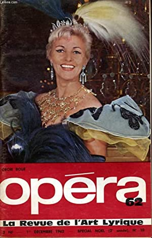 OPERA 62 (2ème année) N° 10 - SPECIAL NOEL - GEORI BOUE - GRANDS TENORS - ...