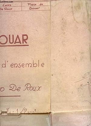 1 PLAN D'ENSEMBLE DEPLIANTE EN MONOCHROME DU CAMP DE ROUX A BOUAR - DE DIMENSION 80 Cm X 60 Cm ...