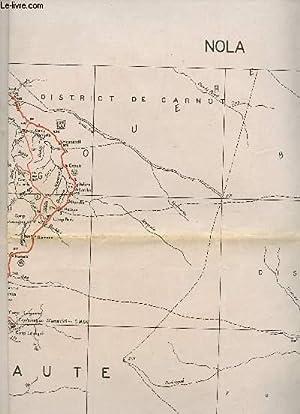 1 CARTE DEPLIANTE EN COULEUR DE NOLA - (CROQUIS PROVISOIRE - S.G. A.E.F. CAMEROUN) - NA 33 XXIII - ...