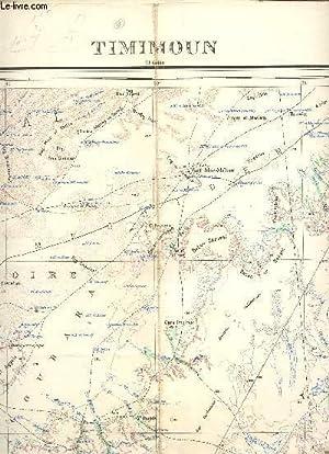1 CARTE DEPLIANTE EN COULEURS DE TIMIMOUN (EL GOLEA) / FEUILLE N.H. 31 - S.0. / AFRIQUE ...