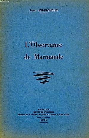 L'OBSERVANCE DE MARMANDE: LEPARGNEUR JEAN