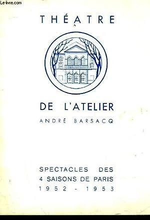1 PROGRAMME - TEHATRE DE L'ATELIER - LA TETE DES AUTRES: COLLECTIF