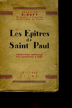 LES EPITRES DE SAINT PAUL: OSTY CHANOINE EM.