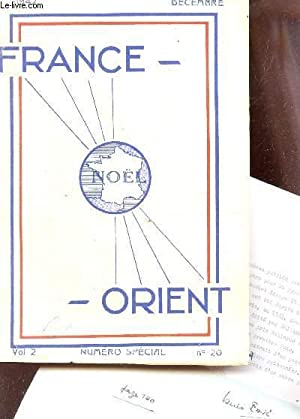 FRANCE ORIENT - VOL 2 - NUMEO SPECIAL - N°20 - DECEMBRE 1942: COLLECTIF