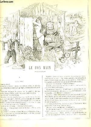 LA VIE PARISIENNE 24e année - N° 34 - LE BON BAIN de SCAMP. - A LA MER de YVES & ...