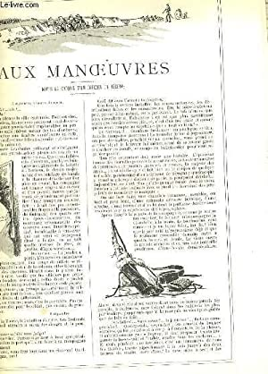 LA VIE PARISIENNE 28e année - N° 40 - AUX MANOEUVRES, notes et croquis d'un ...