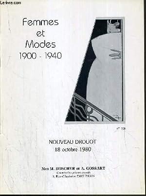 CATALOGUE DE VENTE AUX ENCHERES - NOUVEAU DROUOT - FEMMES ET MODES 1900-1940 - COLLECTION DE M. G. ...