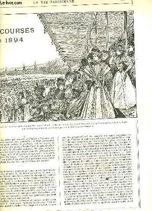 LA VIE PARISIENNE 32e année - N° 24 - LES COURSES EN 1894 de MITCHI - LES CLANS: la ...