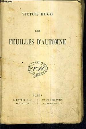 LES FEUILLES D'AUTOMNE.: HUGO VICTOR