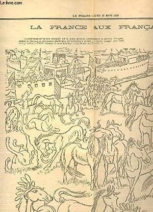 """EXTRAIT DU JOURNAL """"LE FIGARO"""" - lundi 21 mars 1898 / La France aux français ..."""