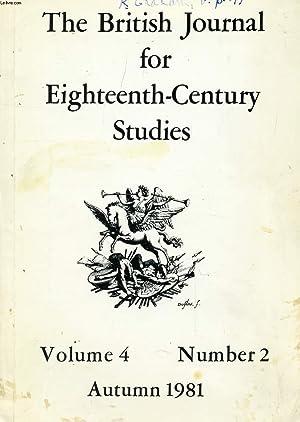 THE BRITISH JOURNAL FOR EIGHTEENTH-CENTURY STUDIES, VOL.: COLLECTIF