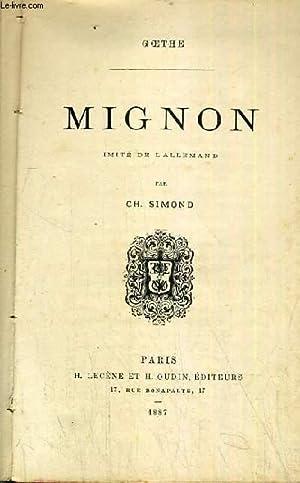 MIGNON: GOETHE PAR SIMOND CH.