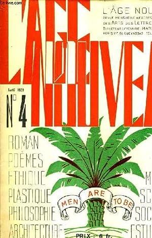 L'AGE NOUVEAU N°4 AVRIL 1938 - Politique: COLLECTIF