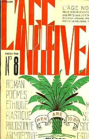 L'AGE NOUVEAU N°8 OCTOBRE 1938 - Pour: COLLECTIF
