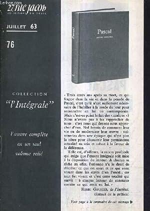 27 RUE JACOB JUILLET 1963 N°76 - Le collier d'ambre Nicolas Pogodine roman - Manfres ...