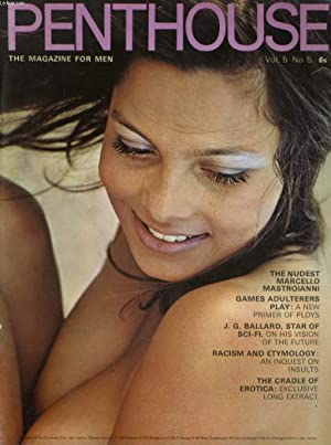 PENTHOUSE, THE MAGAZINE FOR MEN VOL. 5. No. 5 - THE NUDEST MARCELLO MASTROIANNI - GAMES ADULTERERS ...