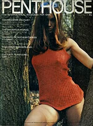 PENTHOUSE, THE MAGAZINE FOR MEN VOL. 6. No. 4 - SOUNDLESSIN SOLITARY: COLIN WILSON ON A TREATMENT ...