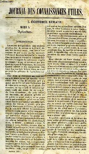 JOURNAL DES CONNAISSANCES UTILES, N° 1, JAN. 1840: COLLECTIF