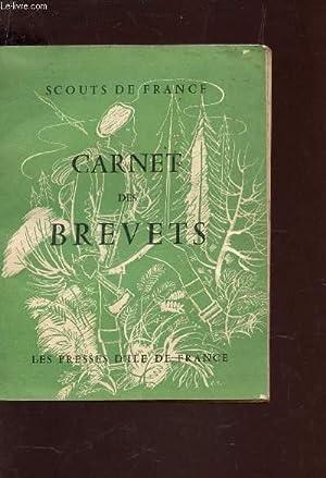 CARNET DES BREVETS.: SCOUTS DE FRANCE