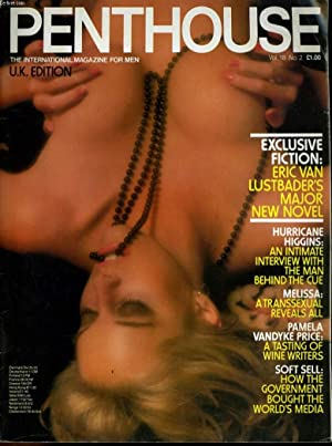PENTHOUSE, THE MAGAZINE FOR MEN VOL. 18. No. 2 - EXCLUSIVE FICTION: ERIC VAN LUSTBADER'S MAJOR...