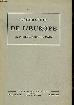 GEOGRAPHIE DE L'EUROPE A L'USAGE DE L'ENSEIGNEMENT: KRAENTZEL F. -