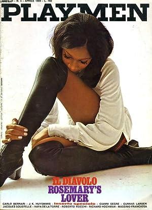 PLAYMEN anno III N°4 - IL DIAVOLO ROSEMARY'S LOVER - CARLO BERNARI - J. K. HUYSMANS - INSERTO ...