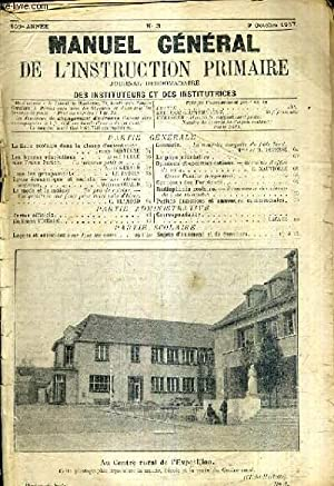 MANUEL DE L'INSTRUCTION PRIMAIRE JOURNAL HEBDOMADAIRE DES INSTITUTEURS ET INSTITUTRICES N°...