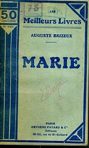 MARIE / LES MEILLEURS LIVRES N°320: BRIZEUX AUGUSTE