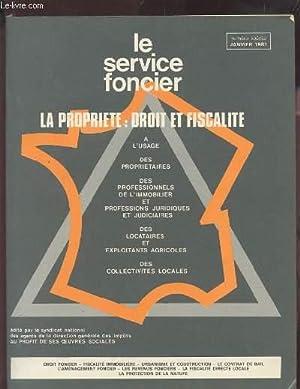 LE SERVICE FONCIER - LA PROPRIETE : COLLECTIF