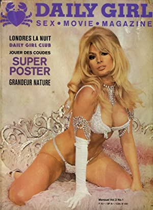 DAILY GIRL - SEX, MOVIE, MAGAZINE VOL. 2 No. 1 - LONDRES LA NUIT - DAILY GIRL CLUB - SUPER POSTER ...