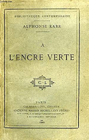 A L'ENCRE VERTE: KARR ALPHONSE