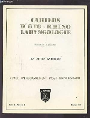 COLLECTION CAHIERS D'OTO-RHINO LARYNGOLOGIE - TOME 5: GUERRIER Y.