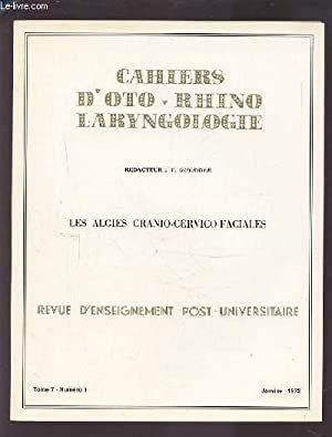 COLLECTION CAHIERS D'OTO-RHINO LARYNGOLOGIE - TOME 7: GUERRIER Y.
