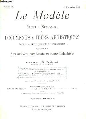 LE MODELE - 1e ANNEE - N°21 - 1er novembre 1894 / Herault d'Armes - Paysages andalous - ...