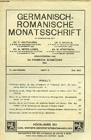 GERMANISCH-ROMANISCH MONATSSCHRIFT, 4. JAHRGANG, HEFT 5, MAI: COLLECTIF