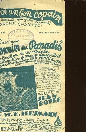 """AVOIR UN BON COPAIN"""" DU FILM: """"LE CHEMIN DU PARADIS"""": PAROLES DE JEAN BOYER ET ..."""